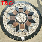 all sizes multicolor round stone marble medallion mosaic for floor