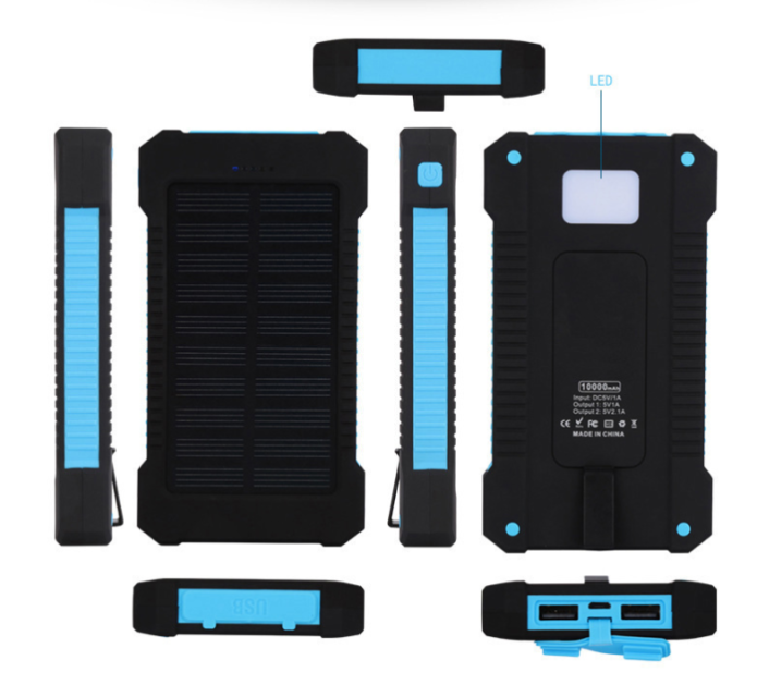 Wholesale Portable Solar Power Bank 20000Mah for Phone Accessories Mobile