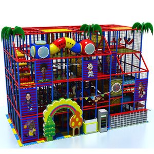 New Commercial woven belt platform soft play bouncy castle prices