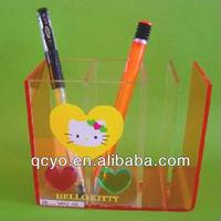 Clear acrylic polyresin pen holder for desk