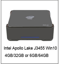 Intel Atom Dört çekirdekli 64bit x5-Z8350 Windows 10 Masaüstü Mini PC