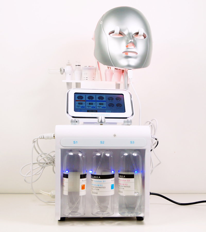 Au-S516 Auro 8 in 1 Multifunctional Spa Facial Device/Skin Scrubber Microdermabrasion Peeling/Small Bubble Oxygen Machine