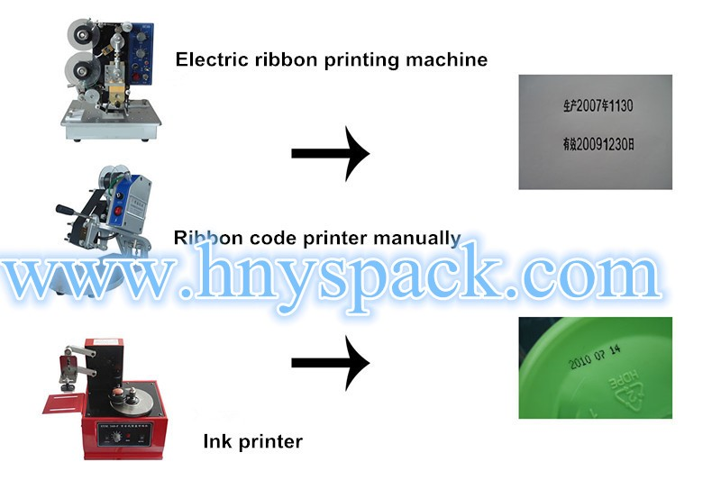 3 Lines Manual plastic bag expiry date coding machine date and batch printing machine