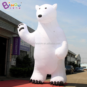 2017 christmas outdoor decoration large inflatable polar bear