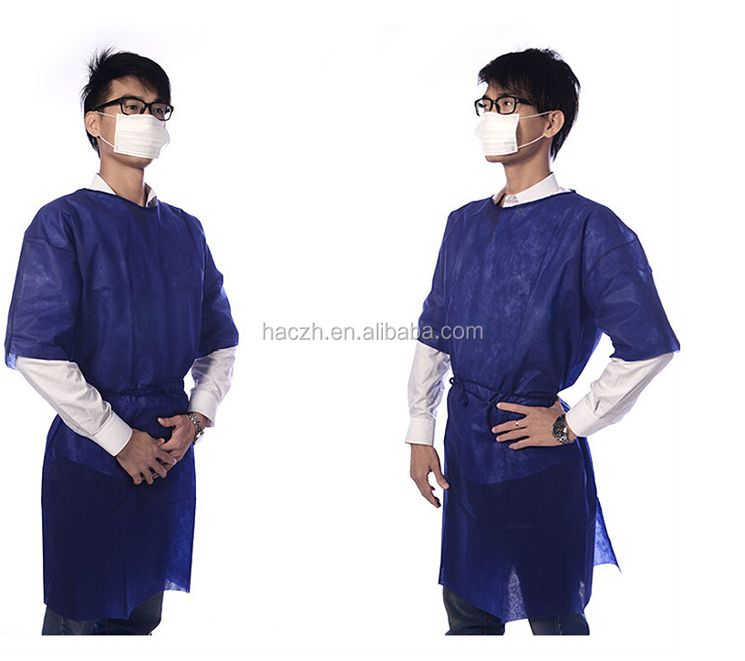 Disposable medical visitor coats