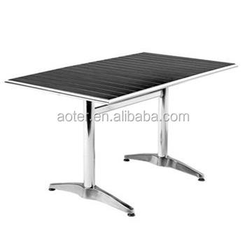 Tavolo Di Plastica Da Esterno.Moderni In Alluminio Calibro Tavolo Tavolo In Legno Per Esterni Di