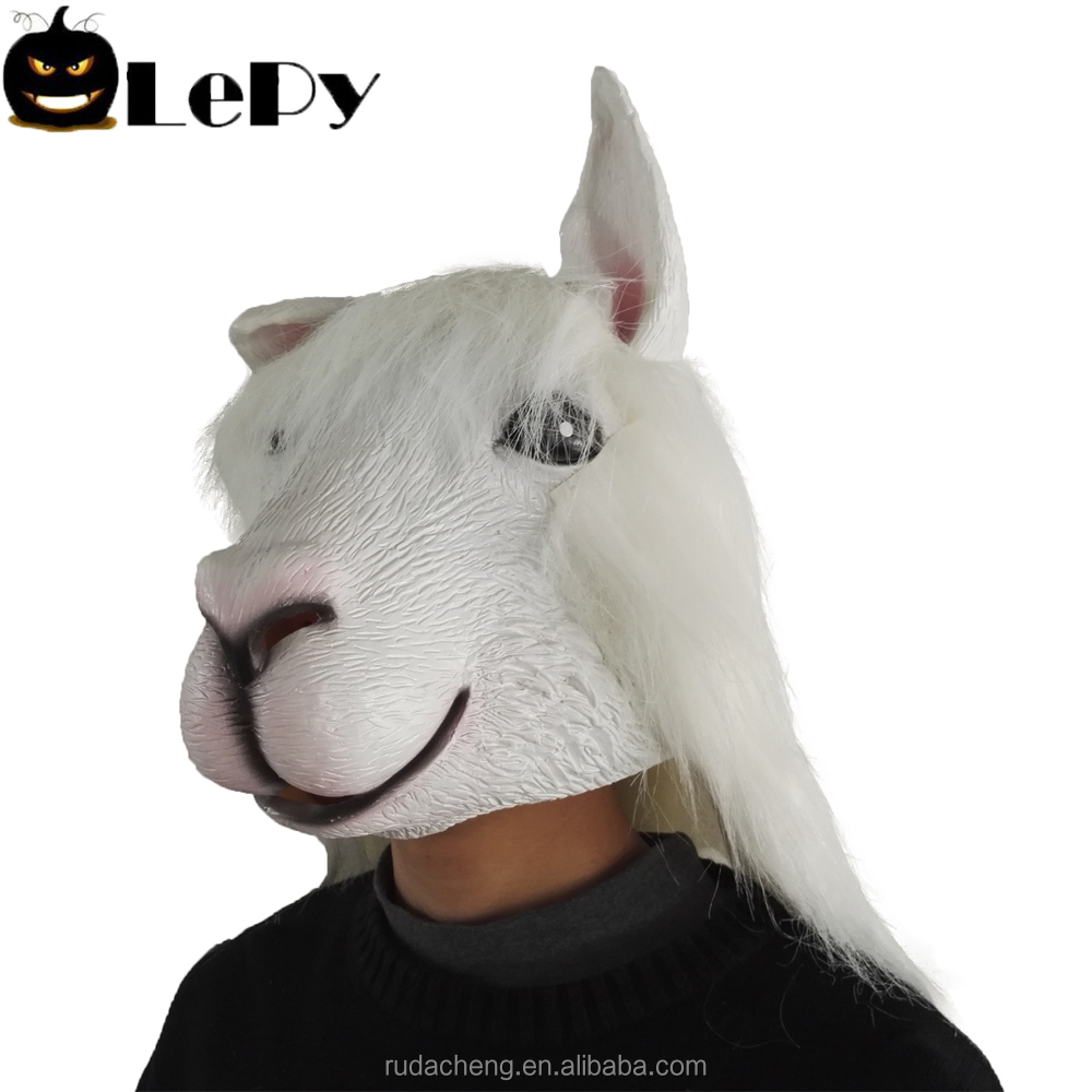 Halloween costume party props animal full face mask goat latex mask