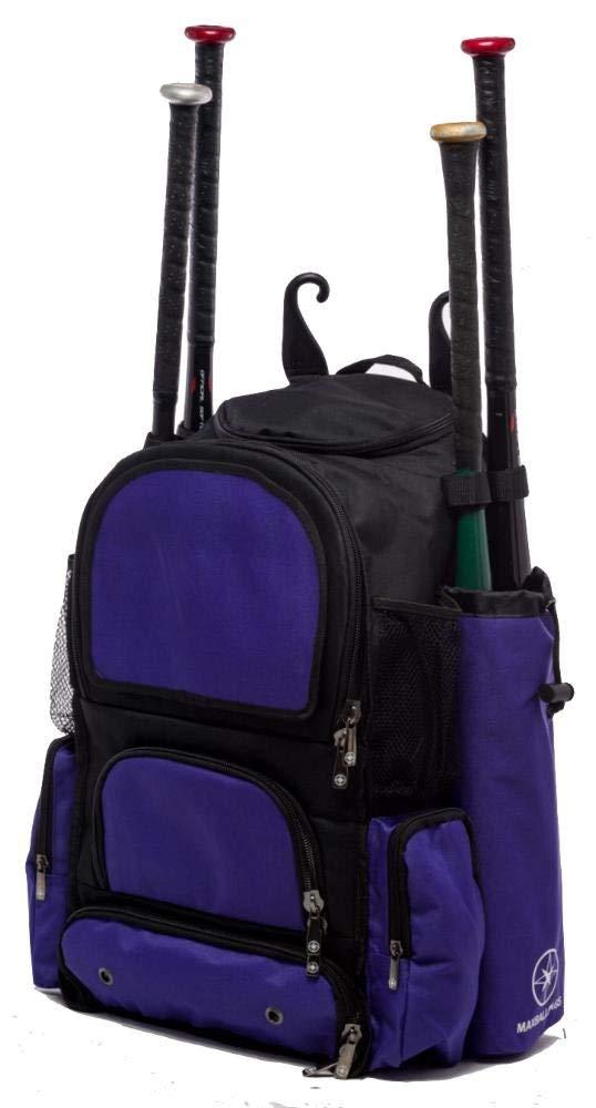Get Quotations · Black and Purple Chita M Softball Baseball Bat Equipment  Backpack BKPUChitaM 4467462e85eae