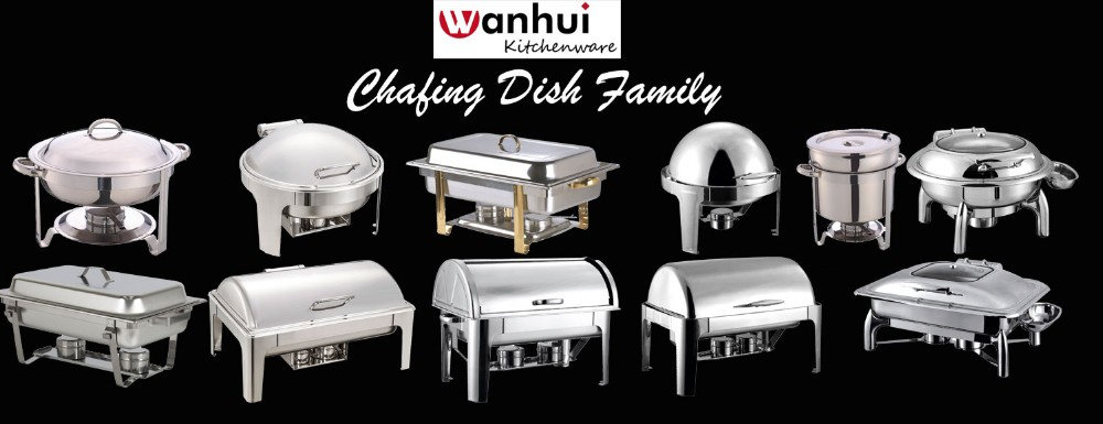 Stainless steel Brass Chafing Dish for buffet