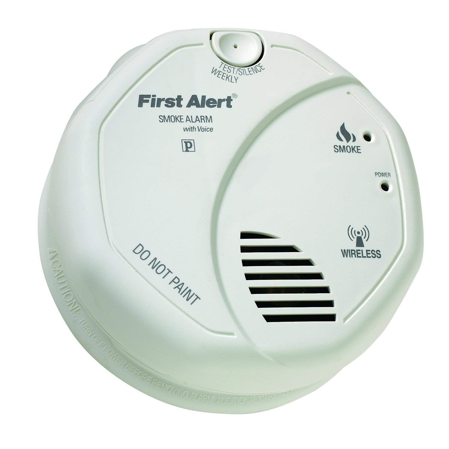 First Alert OLSMOKEV SmartBridge Wireless Interconnected Photoelectric Smoke Alarm with Voice and Location