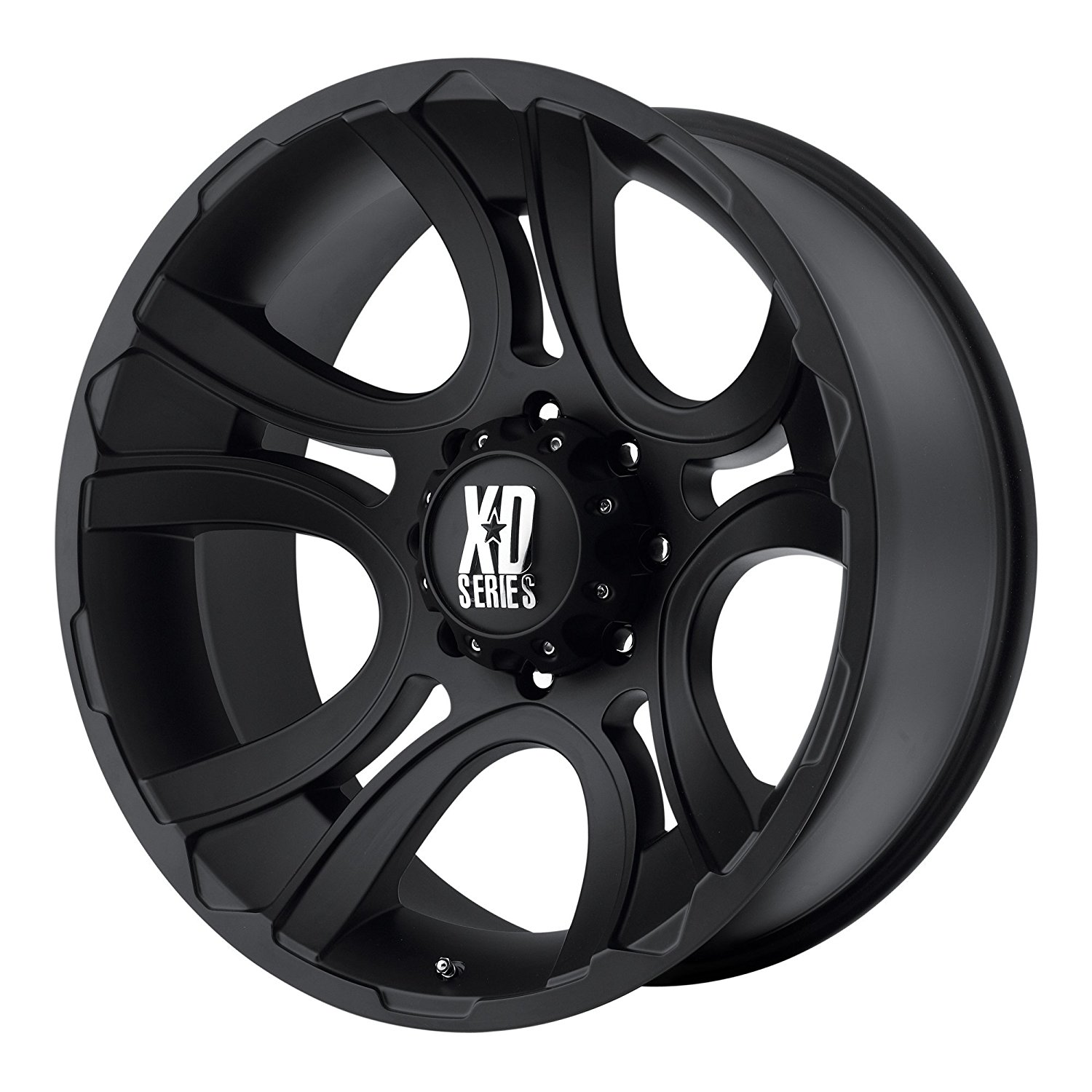 18 Inch 18x9 KMC XD SERIES wheels CRANK Matte Black wheels rims