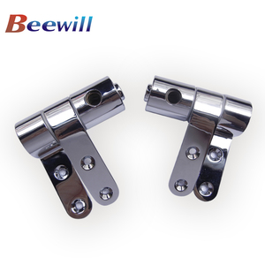 Hot selling chrome toilet seat metal hinge part for wooden and MDF toilet