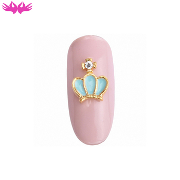 Newest Crown Design Alloy Nail Art Studs Beauty Salon Accessories Mixed Designs