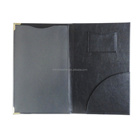 Small order custom leather bill folder for restaurant, restaur menu holder