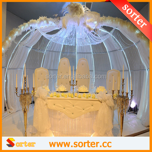 crystal wedding ceiling drapes & Wedding Backdrop