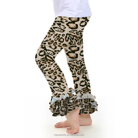 Baby clothes wholesale price sew sassy icing legging boutique tiger stripes kids ruffle pants