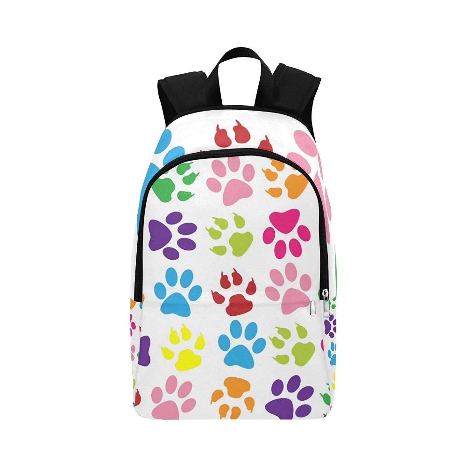 Leather Dachshund Dog And Paws Backpack Daypack Bag Women