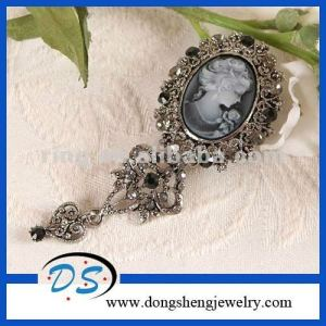 muslim diamante brooches for weddings grey crystal cameo brooch pin