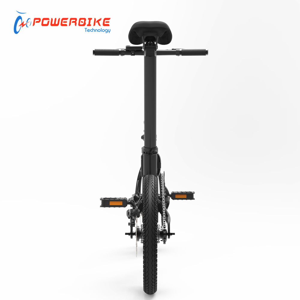 Light weight 14kg 250w portable mini 16 inch folding bike with CE