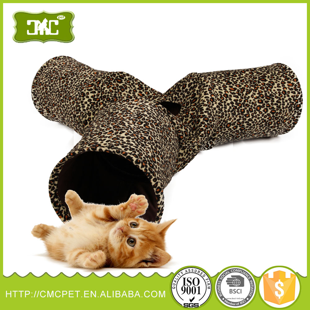 Folding Pet Dog Cat Exercise Fun Tunnel Cave Rabbit Kitten Ferret Play Toy