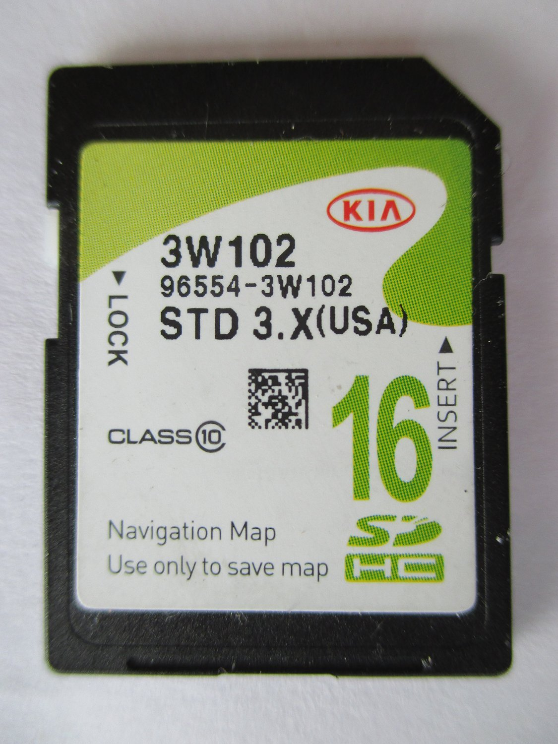 3W102 2014 2015 2016 KIA SPORTAGE Navigation MAP Sd Card ,GPS UPDATE , U.S.A OEM PART # 96554-3W102 3.X 16GB