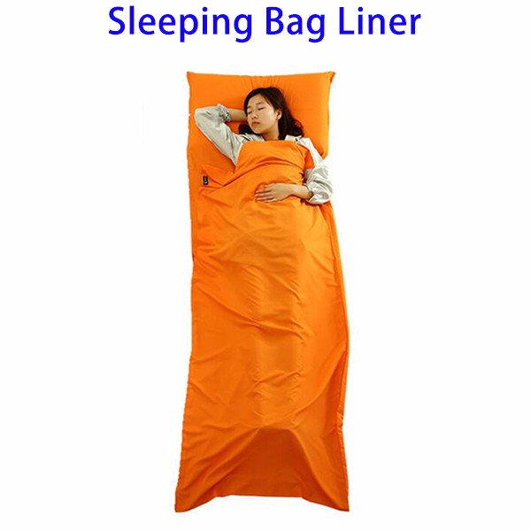 Lightweight Warm Roomy Sleeping Bag Liner Cotton with Compression bag