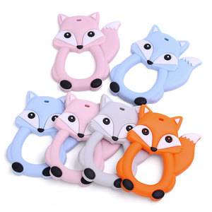 New Design Sensory Baby Teething Toys, Soft Bpa Free Baby Teether, Food Grade Silicone Teether Fox