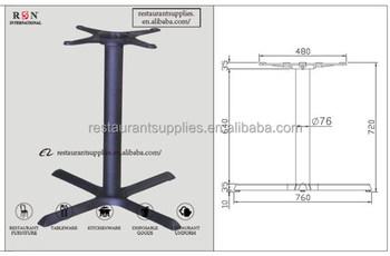 Cross Shape Dining Table Base Cast Iron Table Base Used Restaurant - Cast iron restaurant table bases