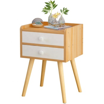 Robot style Bedroom Decor Wooden Bedside Nightstand Storage Drawer Furniture Table