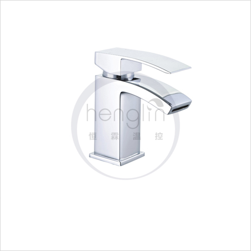 deluxe brass square hoe shape durable wash hand faucet