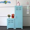 Children Clothes Storage Cabinet Small Colorful Steel Locker For Home