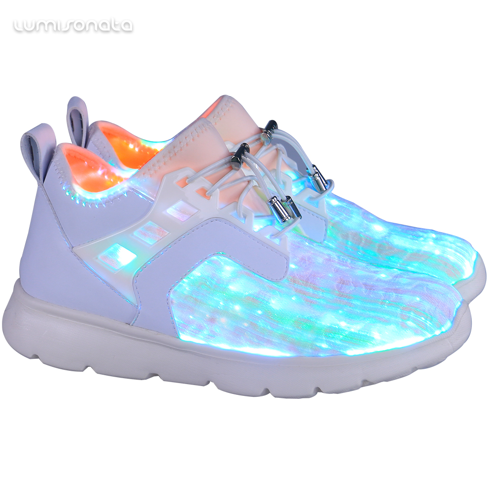 fiber running USB optic Fashion shoes led shoes led light charging glow shoes gRn8qwWnB