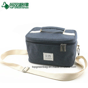 Custom 600d Polyester+Microfiber+PE Foam Insulated Freezable Cooler Ice Lunch Bag Food Bag