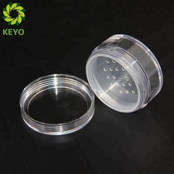 a23b28819cff Decorative Body Scrub Jars Round Plastic Cosmetic Loose Powder Empty Custom  Bottle Cosmetic Powder Rock Jar - Buy Custom Bottle Cosmetic Powder Jar ...