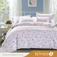 100% Cotton wholesale bed sheets floral Printed queen size duvet cover set