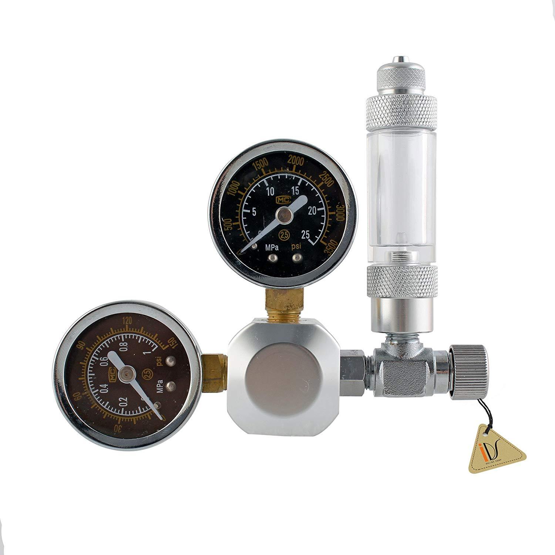 IDS Home Aquarium Dual Gauge CO2 Pressure Regulator Valve + Bubble Counter Gauge