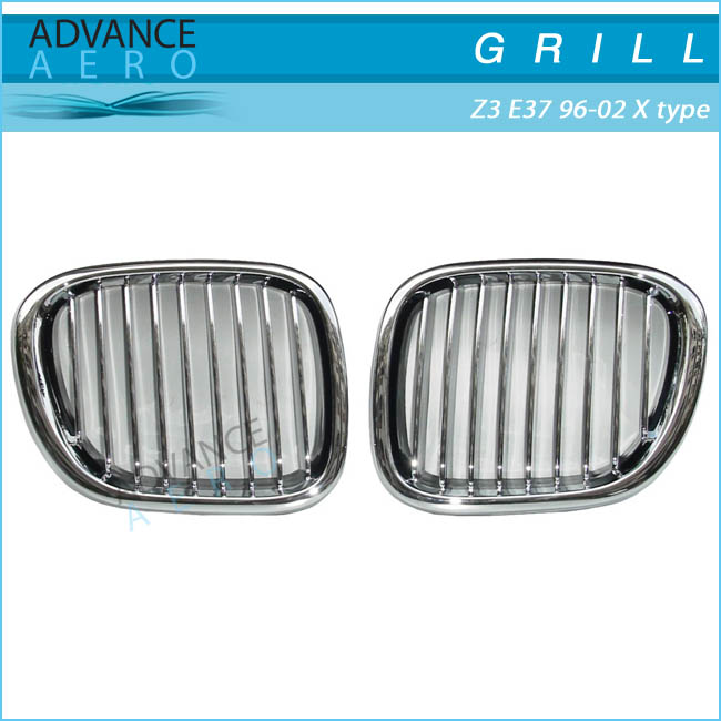 FOR 1996-2002 BMW Z3 SERIES E37 X TYPE STYLE CHROME ABS FRONT HOOD GRILL GRILLE