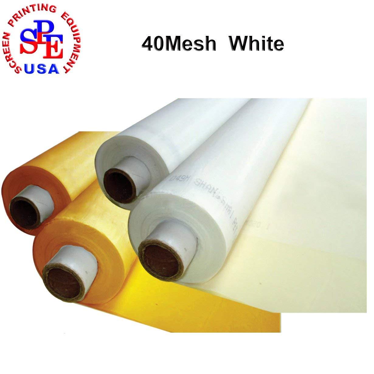 1 Yard 40/60/80/100/110/120/140/160/180/200/250/300Mesh 50Inches Width Silk Screen Fabric (40Mesh (16T) White)