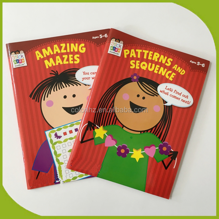 Print personalised sticker activity books for toddlers with several pages of stickers for books