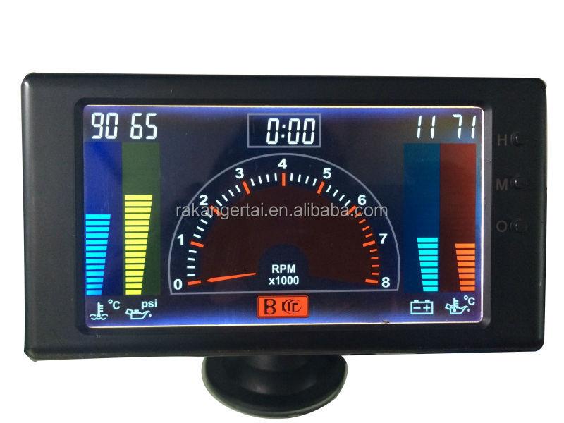 5 lcd 6 in1multiple function gauge tachometer volts clock. Black Bedroom Furniture Sets. Home Design Ideas