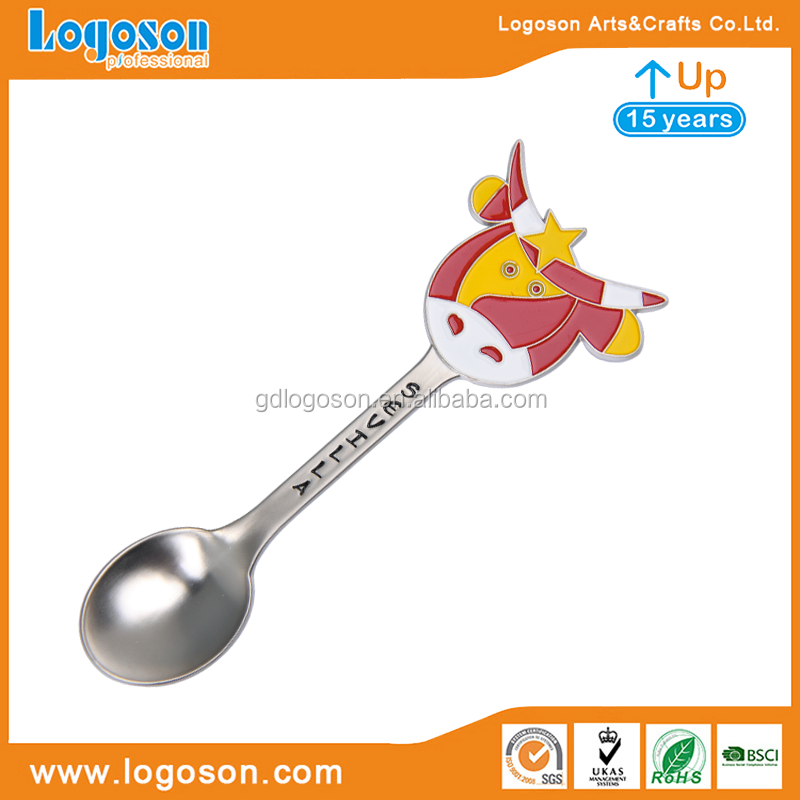 Metal Spoon Souvenir Spain Sevilla Bull Decorative Spoons Animal Spoon