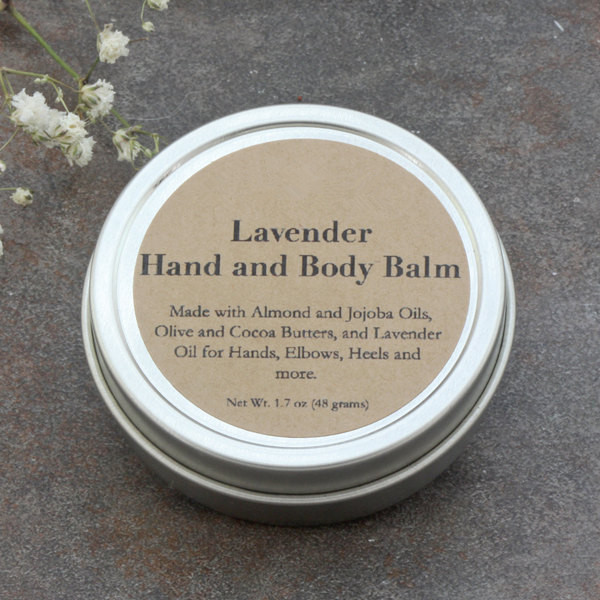 Natural Skin Care Soothing Lavender Essential Oil Hand And Body Balm