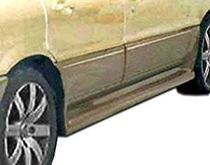 1989-1993 Mitsubishi Galant Duraflex Cyber Side Skirts Rocker Panels - 2 Piece (Clearance)
