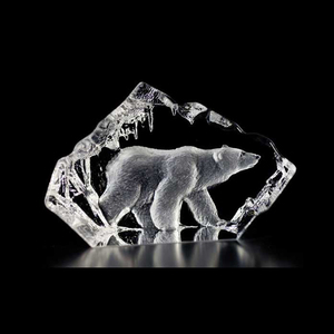 Fancy beautiful blank crystal iceberg for gift