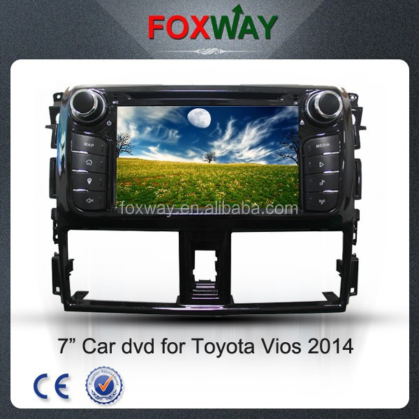 "Dashboard replacement 7"" touch screen <strong>car</strong> dvd player with gpd for <strong>Toyota</strong> Vios 2014 for <strong>Toyota</strong> Yaris 2014"