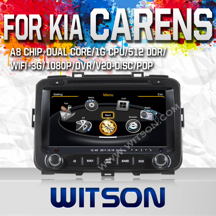 WITSON FOR KIA CARENS 2013 RADIO VIDEO DVD GPS WITH RAM 8GB FLASH BLUETOOTH STEERING WHEEL SUPPORT
