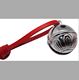 hot sale silver sleigh bell manufacturer china, brass bell with red leather string for Christmas