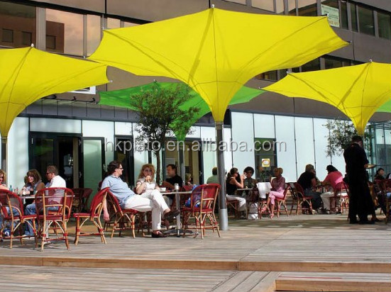Outdoor decorative sun shelter tulip umbrella for restaurant