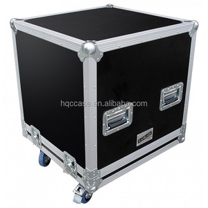 OEM Factory price Lockable gray Hard trolley black amplifier foam inside dj 55 tv aluminium flight case with stand