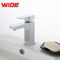 Bathroom Use Square Design Sanitary Vessel Faucet upc Hot & Cold Water Pillar Basin Taps